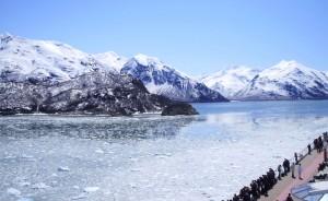 Entrada en crucero al Hubbard Glacier