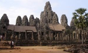Templo de Bayon en Angkor Thom en Camboya