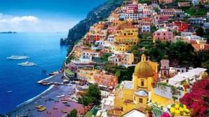 El precioso pueblo de Positano