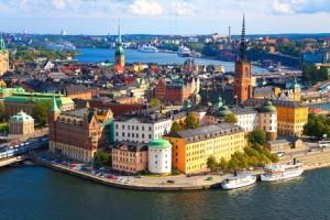 La preciosa ciudad de Estocolmo.