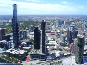 El Eureka Building, a la izquierda, destaca sobre el resto.