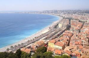 Vistas de Niza desde la colina del Castillo