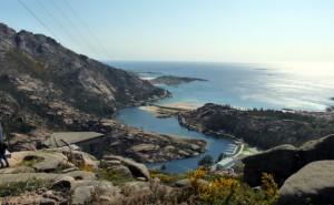 Panoramica de la ría hasta el mar