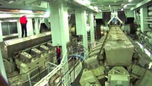 La sala de máquinas de un crucero.