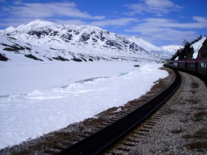 Vistas desde el White Pass Yukon Train