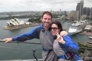 Vistas de la Sydney Opera House en la subida