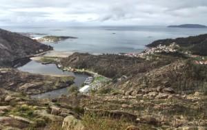 Vista del Faro Finisterre desde el mirador