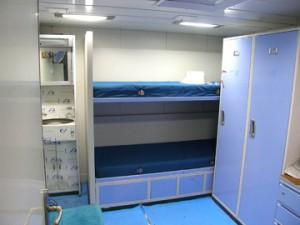 Cabina estándar de un tripulante.