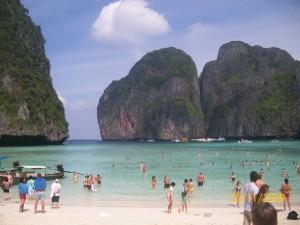 La paradisíaca Maya Bay en Tailandia