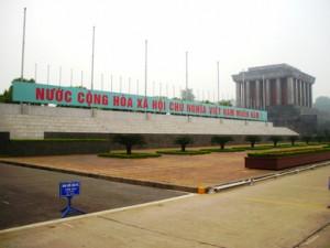 Mausoleo del fundador del país, Ho Chi Minh.