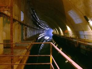 Túneles de la base secreta militar de Sevastopol.