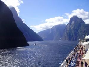 Vistas de los fiordos desde el crucero.