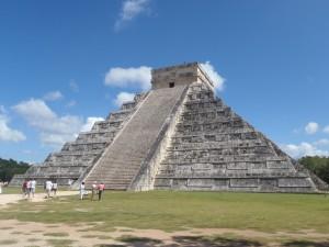 El templo de Kukulcán en Chichén Itzá.