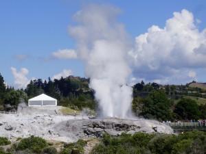 Geyser de Te Puia, de actividad volcánica.