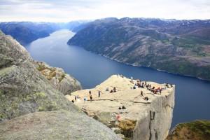 El famoso Púlpito en Stavanger.
