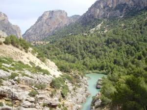 Valle del Hoyo en el Caminito del Rey.