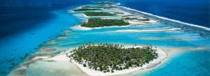 El precioso atolón de Rangiroa.