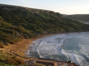 Golden Bay, la mejor playa de arena de Malta.