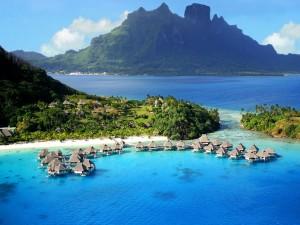 Ubicación de un hotel en Bora Bora.