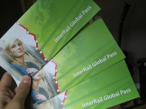 Billetes de Interrail.