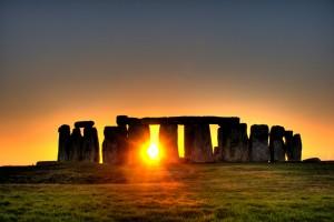 Atardecer mágico en Stonehenge.