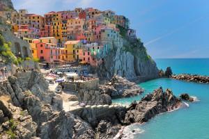 El impresionante paisaje de Le Cinque Terre.