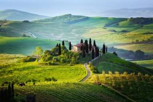 Los paisajes de la Toscana Italiana parecen lienzos pintados.