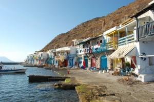 Klima, típico pueblo pesquero de las islas griegas.