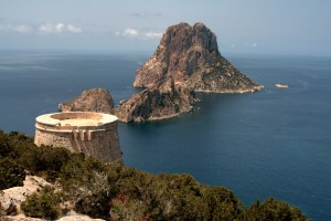 Vista de Es Vedrá desde Torre des Savinar.