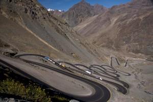 Carretera en la frontera entre Chile y Argentina.