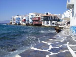 Mykonos es escala en un crucero por las Islas griegas.