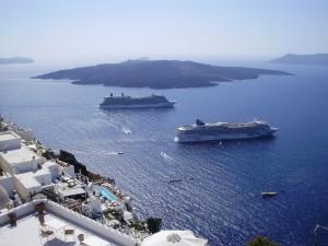 Santorini es destino de mini crucero.