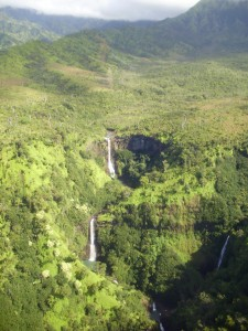 Cascadas en la espectacular isla de Kauai.