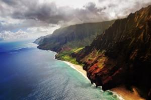 La espectacular Napali Coast en la isla de Kauai.