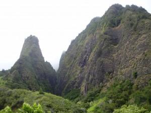 El Iao Needle, la Aguja, en la isla de Maui.