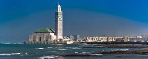 La mezquita de Casablanca vista desdel el mar.