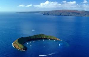 El cráter de la isla de Molokini.