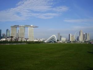 Dibujo del skyline de Singapore.