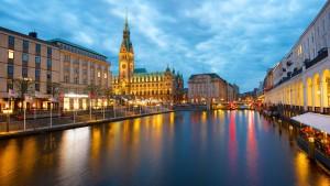 Hamburgo es una ciudad de gran belleza.