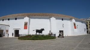 Vista exterior de la Plaza de Toros.