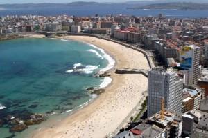 Preciosa panorámica de La Coruña.