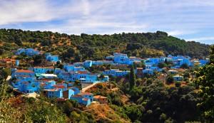 El curioso pueblo azul de Júzcar.