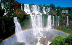 Vista de las cataratas de Iguazu.