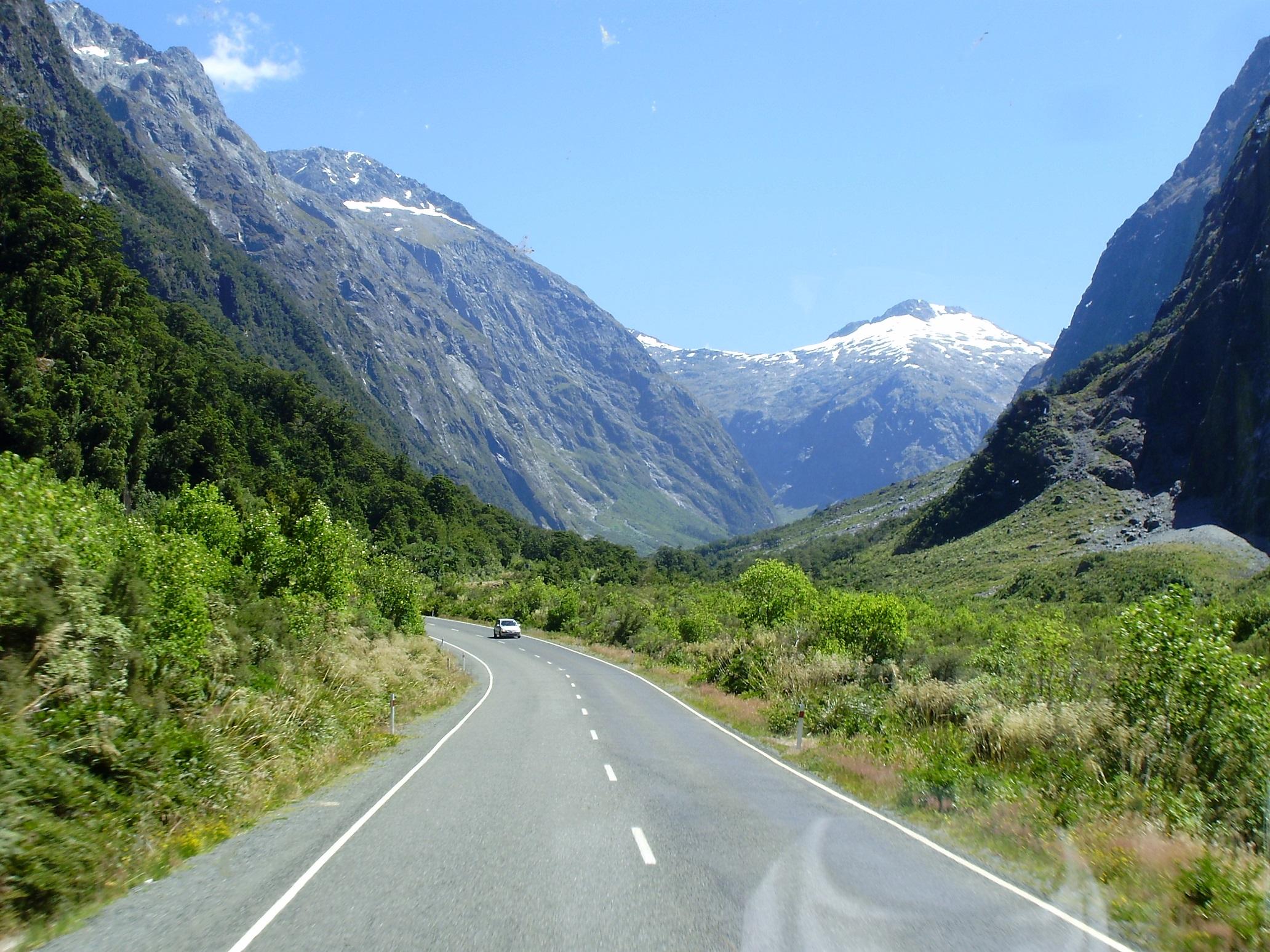 Recorriendo Fjorland National Park en Nueva Zelanda.