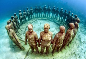 El Underwater Sculpture Park, principal atractivo de buceo de Grenada.