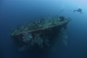 El buceo de barcos hundidos es famoso en Grenada.