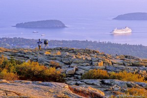 Bar Harbor visto desde Cadillac Mountain.