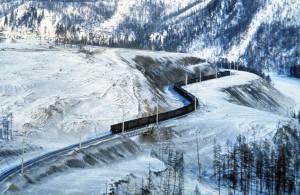 El ferrocarril Transiberiano.