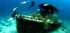 Buceo de barcos hundidos en Grand Bahama.