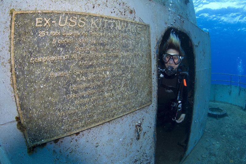 El USS Kittiwake entre los barcos hundidos más impresionantes del mundo.